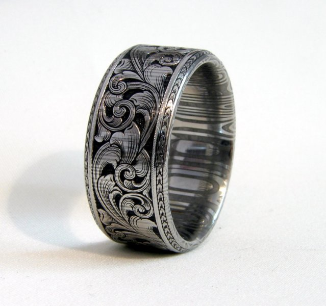 Mens Rings Etched